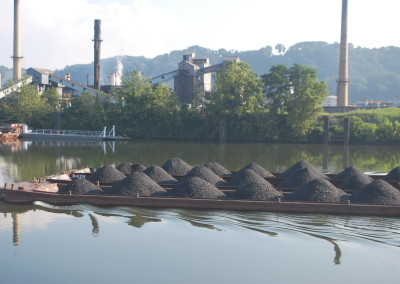 Waterborne commerce, a coal delivery for the steel mills.   *  Photo: Ted Scull
