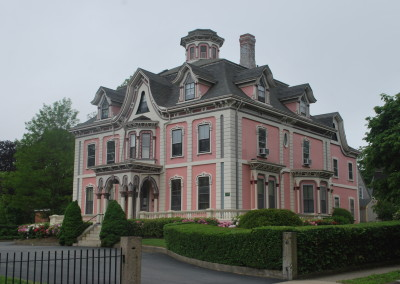 An opulent New Bedford Victorian mansion from the whaling days. * Photo: Ted Scull