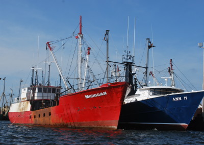New Bedford's fishing fleet ranks #1 with deepsea scallops. * Photo by Ted Scull
