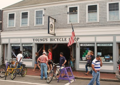 Young's has been renting bicycles on Nantucket since 1931. * Photo: Ted Scull