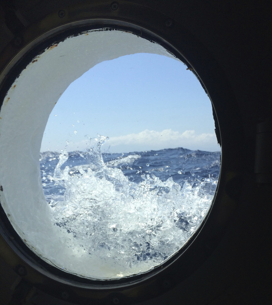 View from our Commodore Deck cabin. * Photo: Heidi Sarna