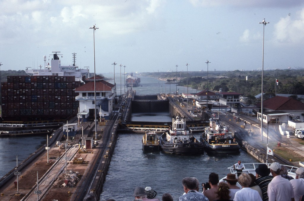 Pedro Miguel Locks, Panama Canal. * Photo: Ted Scull