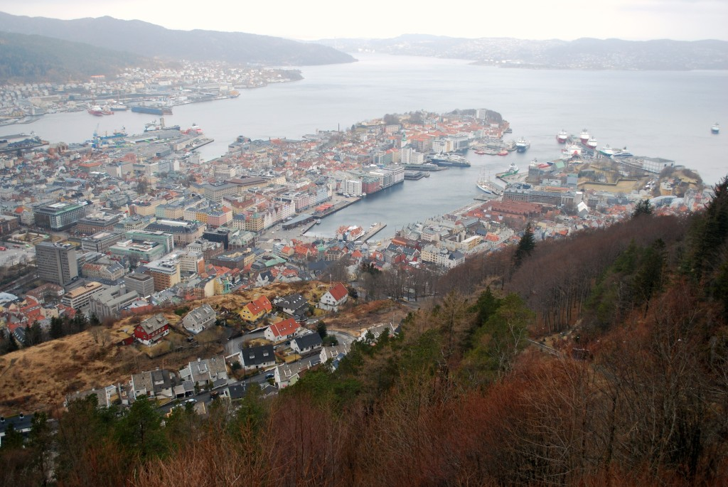 Bergen view from Mt. Floyen. Photo: Ted Scull