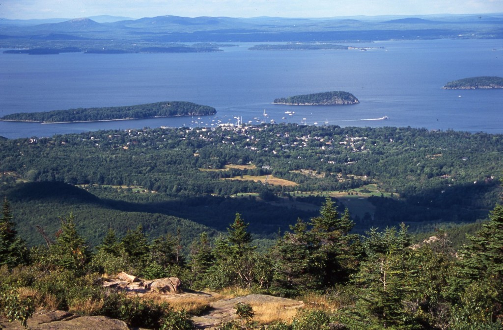 Bar Harbor: view from Cadillac Mtn. * Photo: Ted Scull