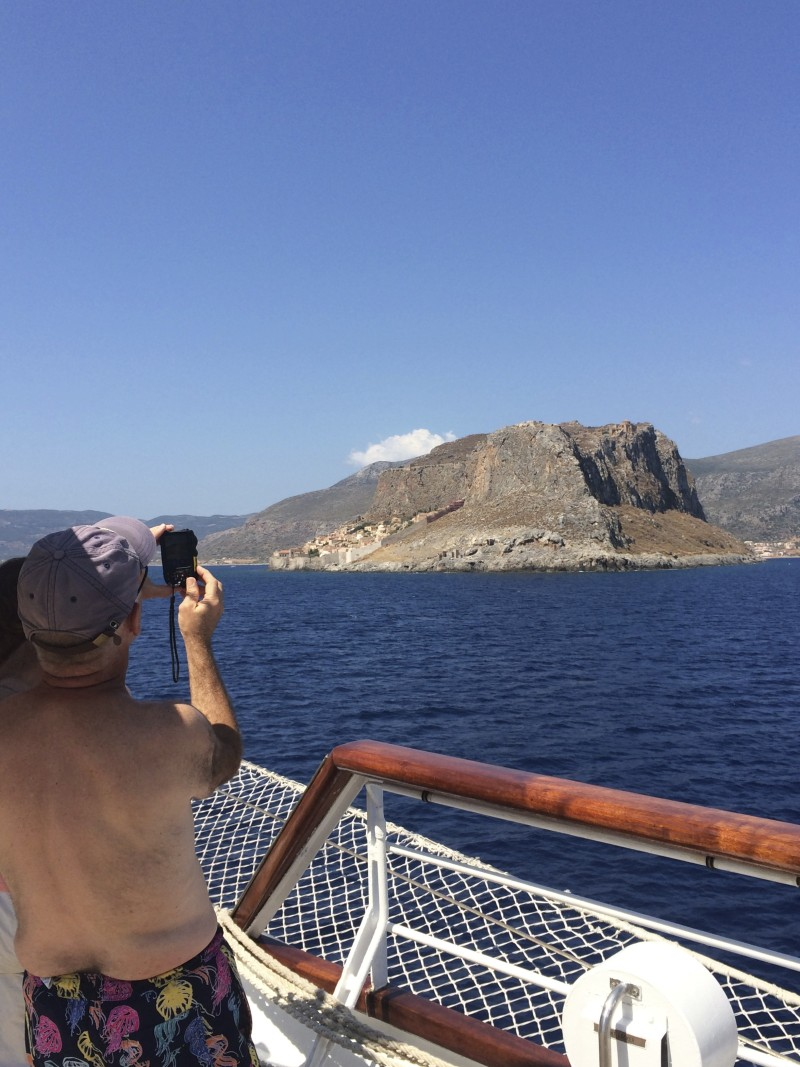 Approaching lovely Monemvassia. * Photo: Heidi Sarna