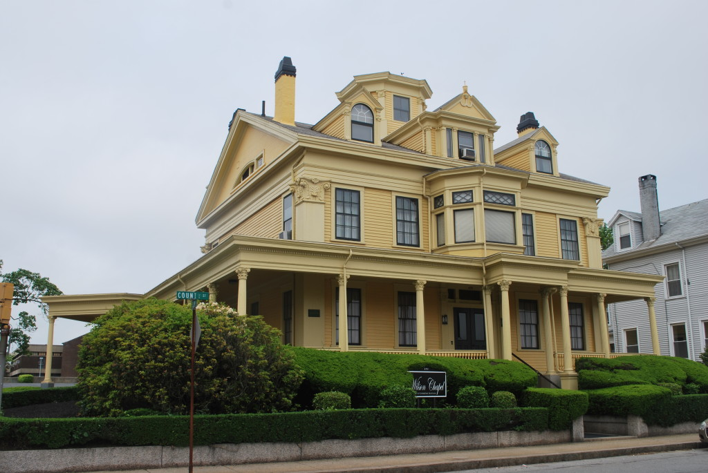 Large houses are a legacy of New Bedford's whaling days. * Photo: Ted Scull