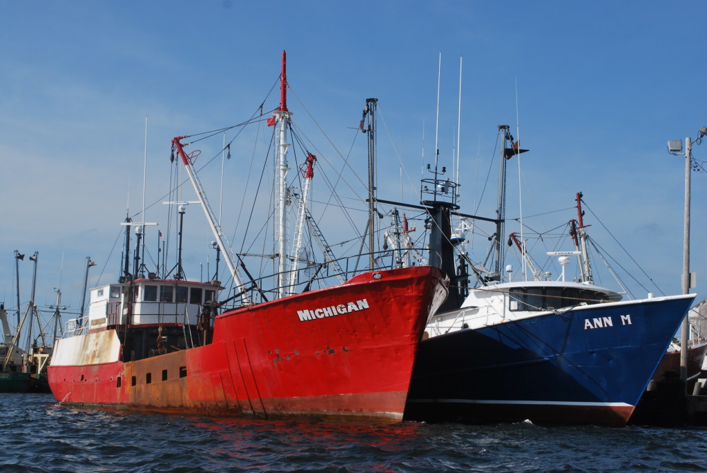 Fishing, especially for scallops, is a lucrative New Bedford tradition. * Photo: Ted Scull