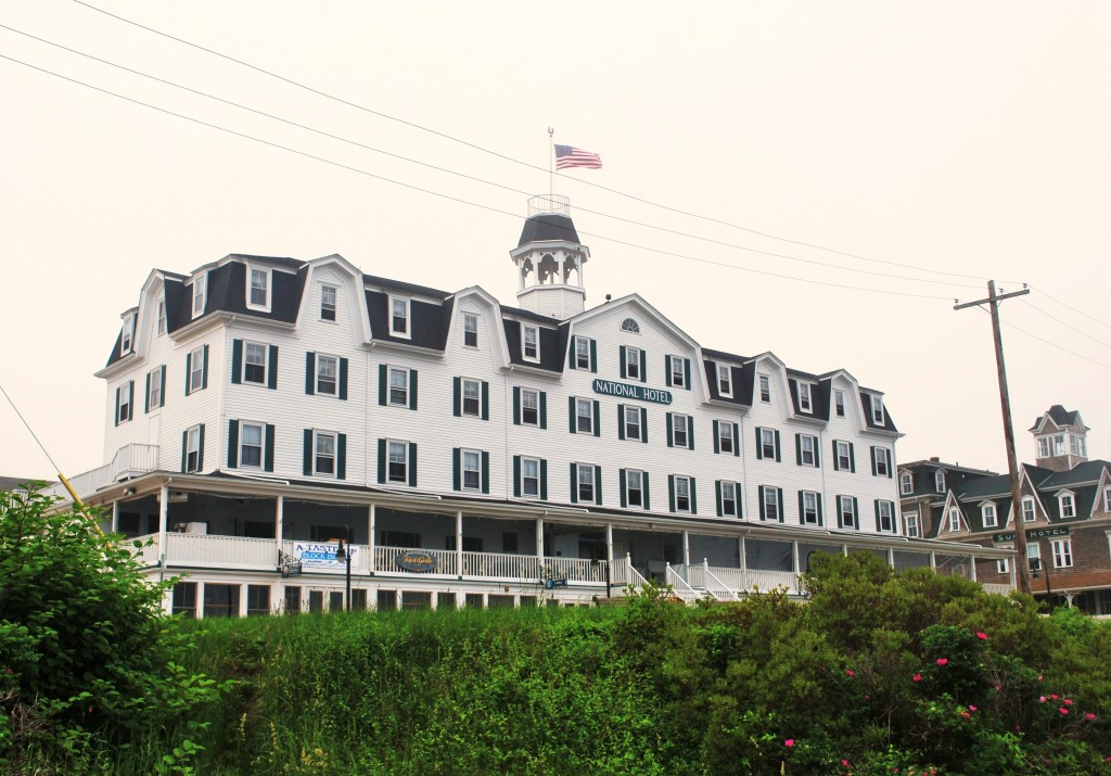 The National Hotel facing Old Harbor, Block Island. * Photo: Ted Scull