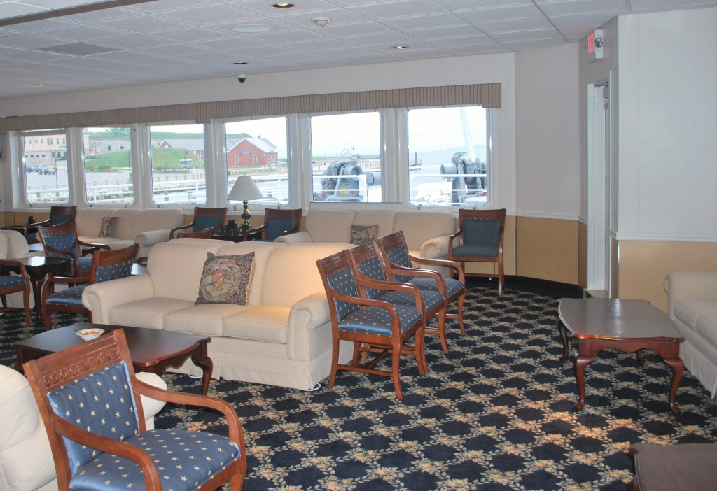 Forward corner of the main lounge. * Photo: Ted Scull