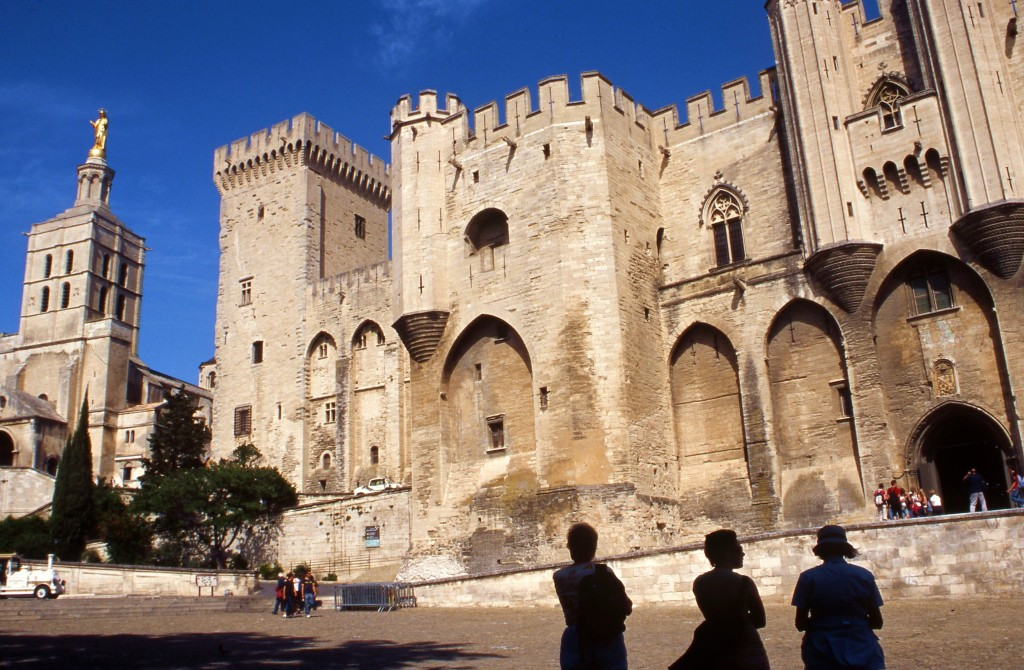 Inside the walled city of Avignon. * Photo: Ted Scull