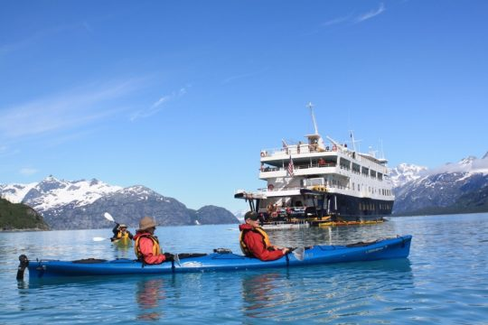Kayaking right from the ship in Southeast Alaska. * Photo: Ben Lyons