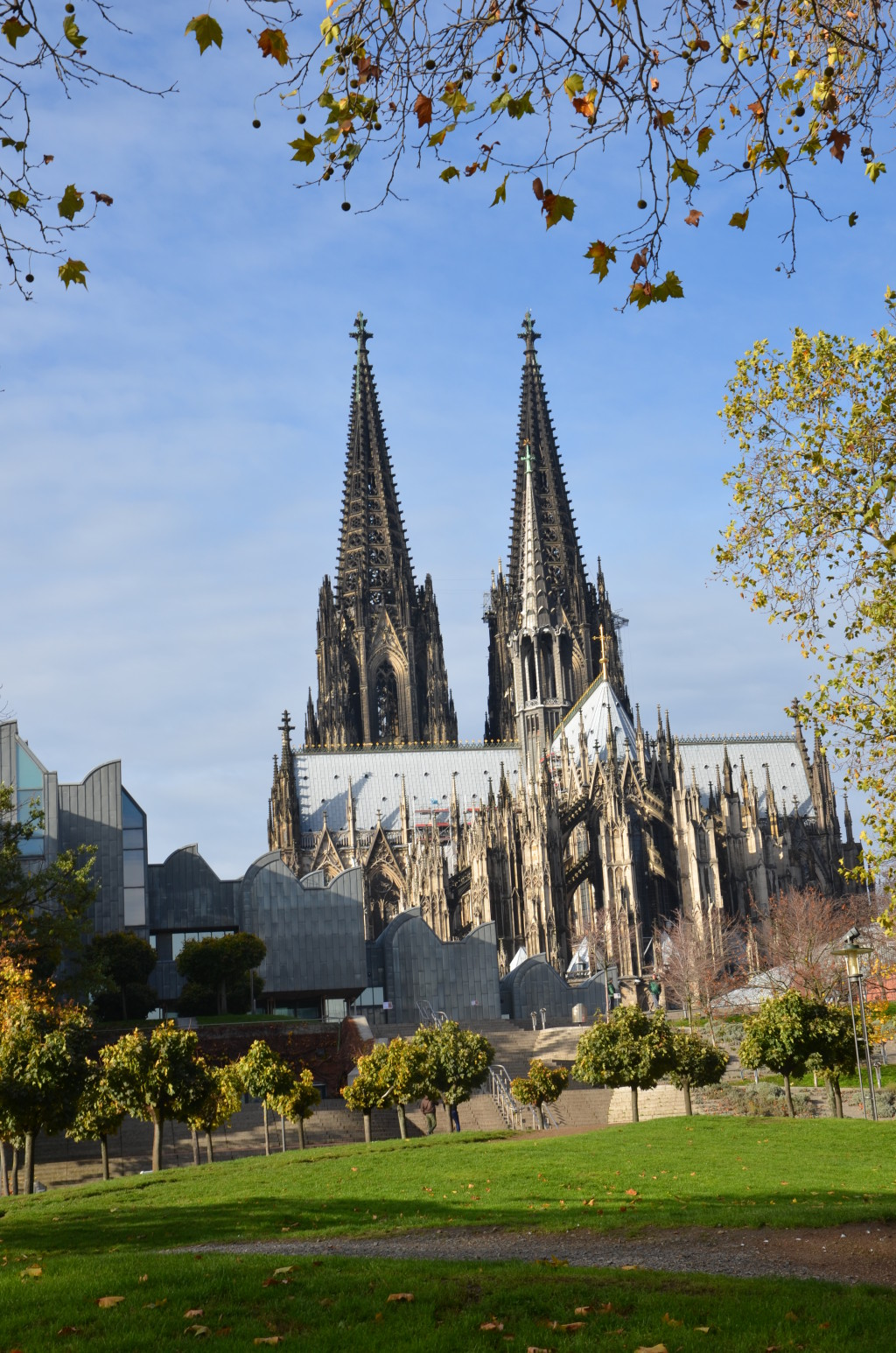 Cologne Cathedral, seen on a Rhine cruise. * Photo: Ted Scull