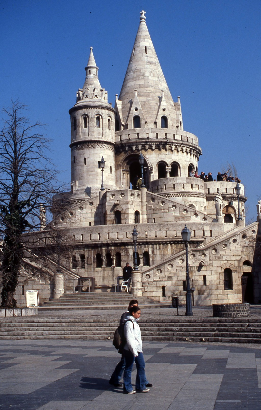Fisherman's Bastion, Buda section of Budapest. * Photo; Ted Scull