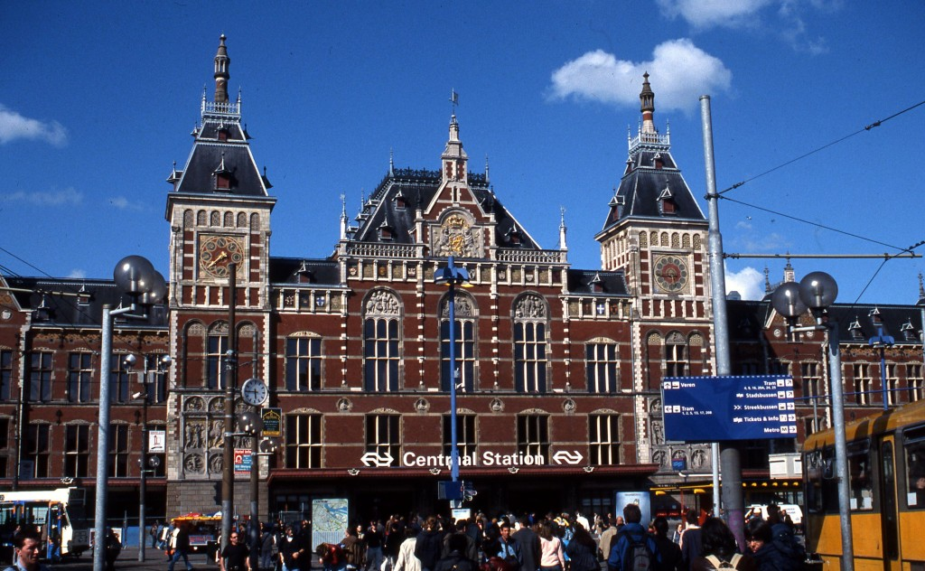 Amsterdam's Central Station. * Photo: Ted Scull
