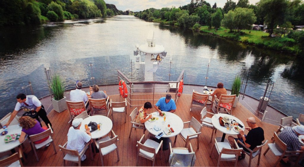 Aquavit Terrace for an outdoor meal. * Photo: Viking River Cruises