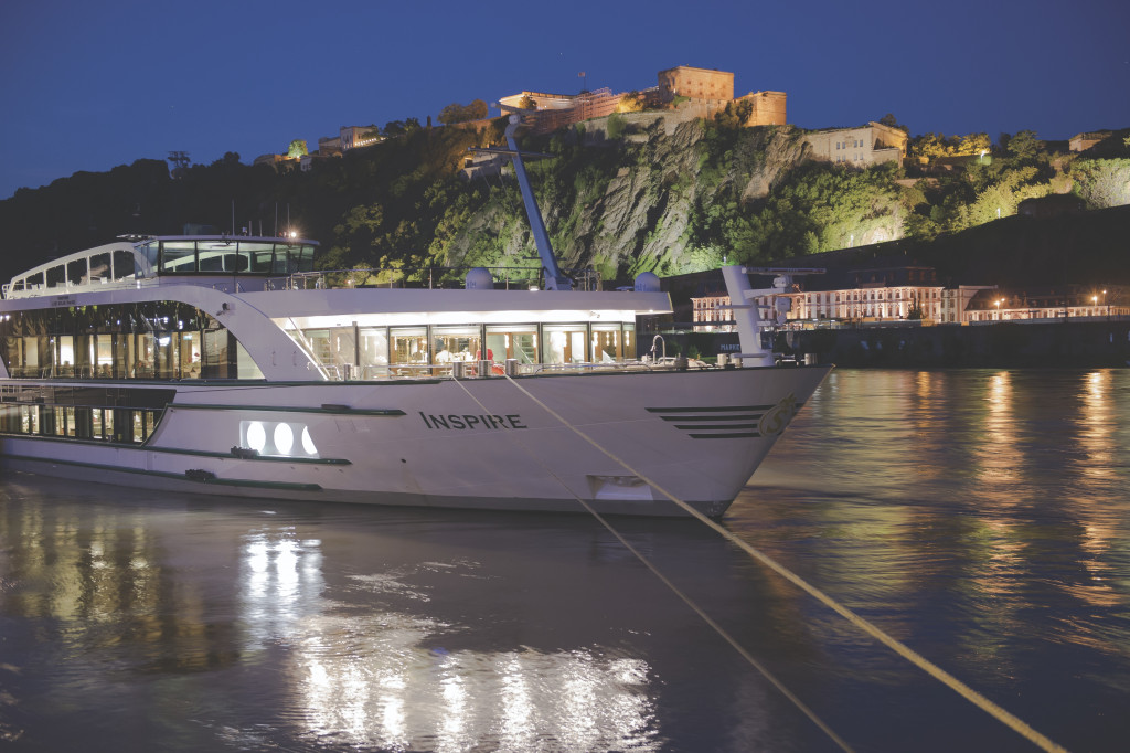 Riverboat Inspire moored at Koblenz on the Rhine. * Photo: Tauck