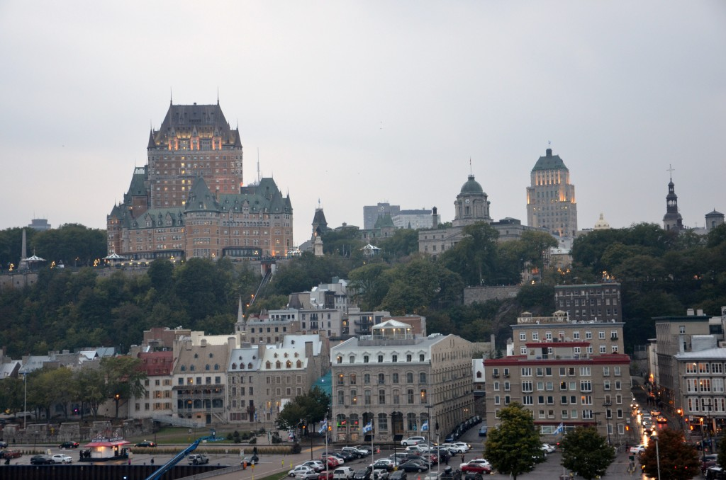 Quebec City at dusk. * Photo: Ted Scull