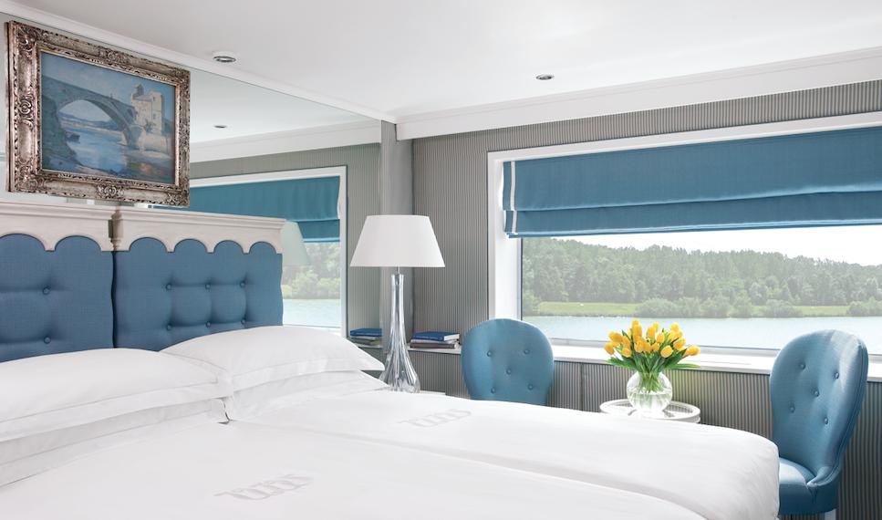 A lovely standard cabin aboard River Empress. * Credit: Uniworld Cruises