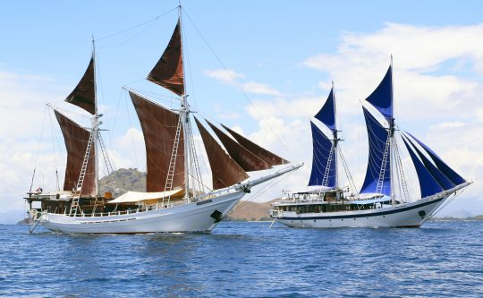 Sailing ships in Indonesia
