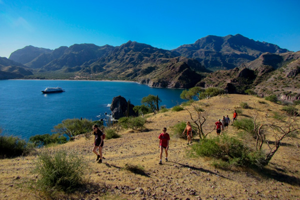 Hiking in Baja California's Sea of Cortes. * Photo: Un-Cruise Adventures
