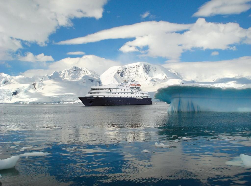 Sea Spirit in Antarctica.* Photo: Poseidon Expeditions