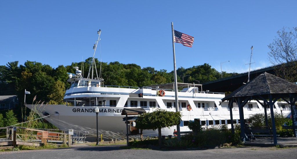 Grande Mariner tied up at Rondout Creek, mid-Hudson River landing. * Photo: Ted Scull