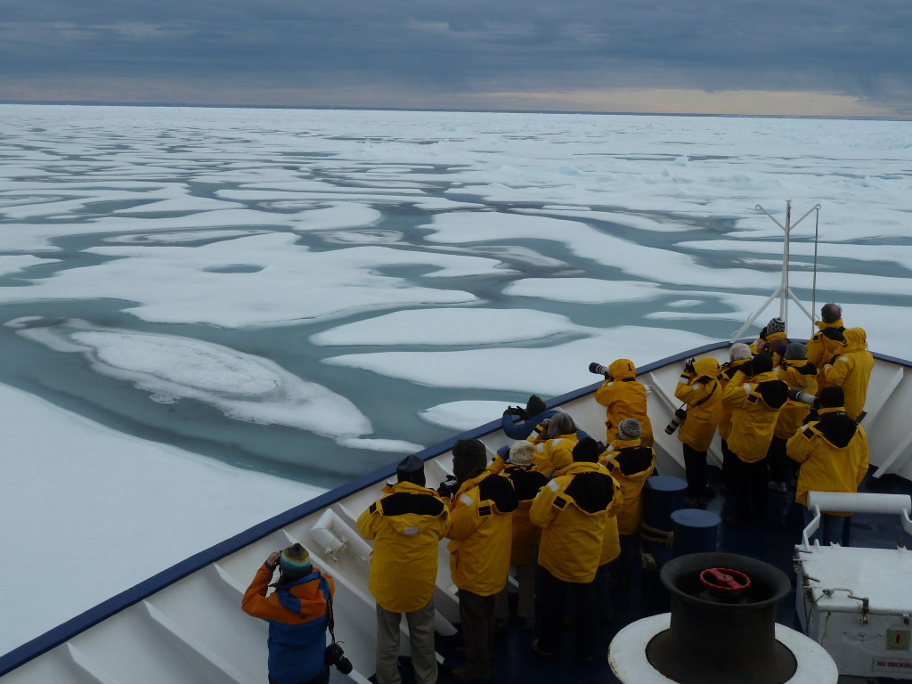 There is something out there, so getting ready. * Photo: Quark Expeditions