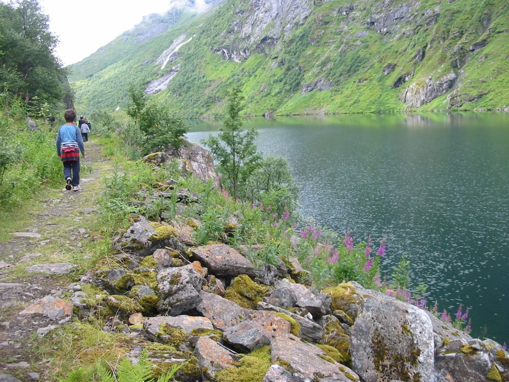 Long gorgeous hikes in Norway, this one near the port of Geiranger, are great for all ages. * Photo: Heidi Sarna