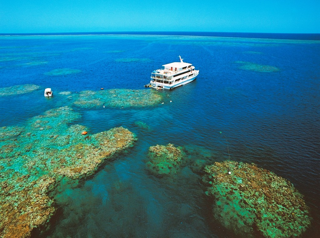 Glass bottom boat and snorkeling at The Great Barrier Reef. * Photo: Coral Expeditions