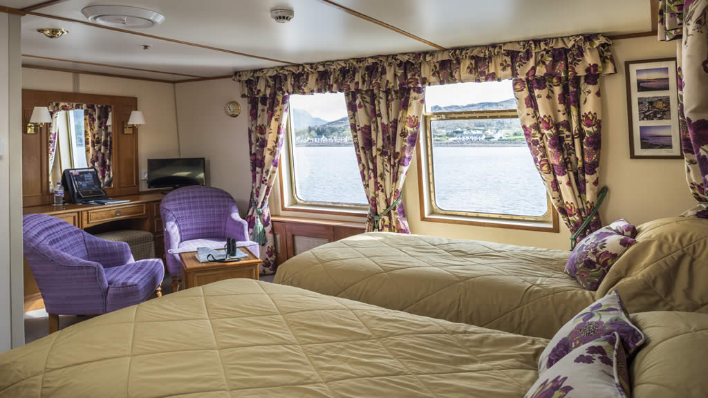 Cabin: Isle of Danna. * Photo: Hebridean Island Cruises