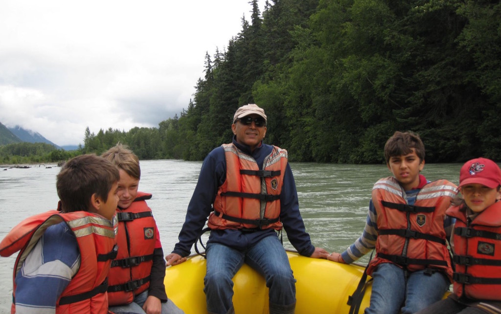 Active excursions like river rafting in Alaska, keep kids engaged and happy. * Photo: Heidi Sarna