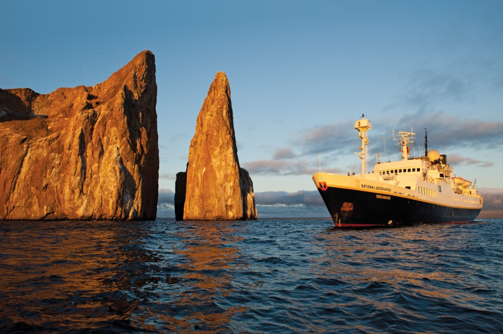 Lindblad Expedition's National Geographic Endeavour in the Galapagos. * Photo: Sven Olof Lindblad