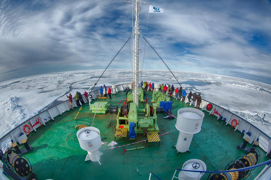 Ortelius in pack ice. * Photo: Arjen Drost-Oceanwide Expeditions