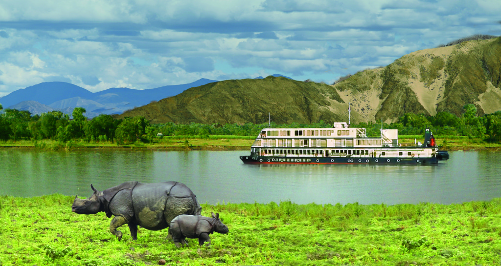 Pandaw on India's Brahmaputra. * Photo: Pandaw Cruises