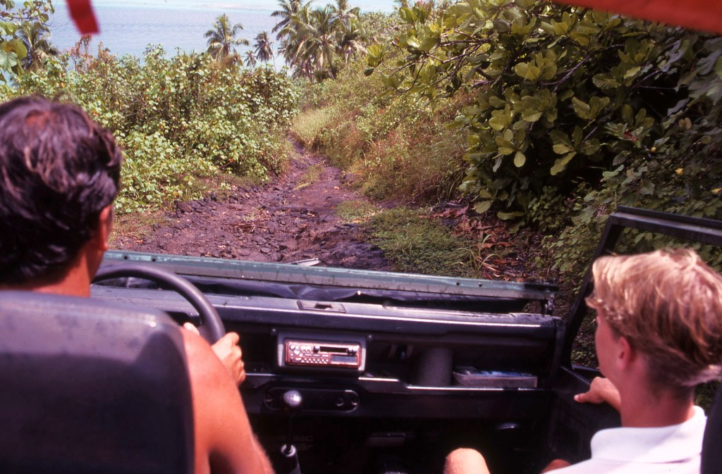 Exploring the islands via four-wheel drive vehicle.* Photo: Ted Scull