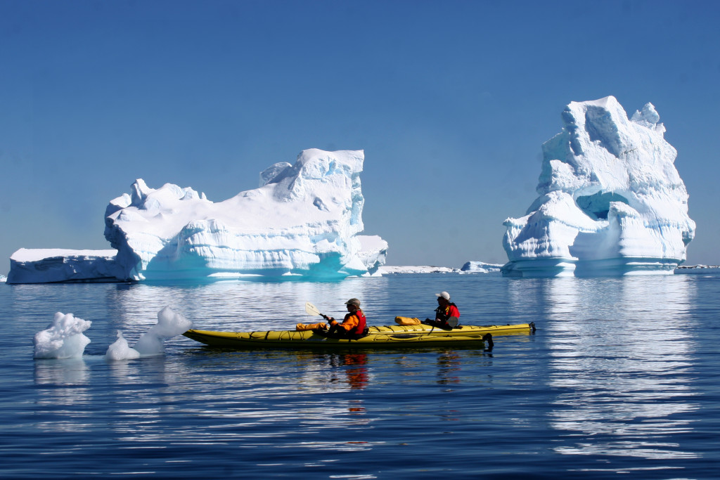 Kayaking is available in both the Arctic and Antarctica. * Photo: Quark Expeditions