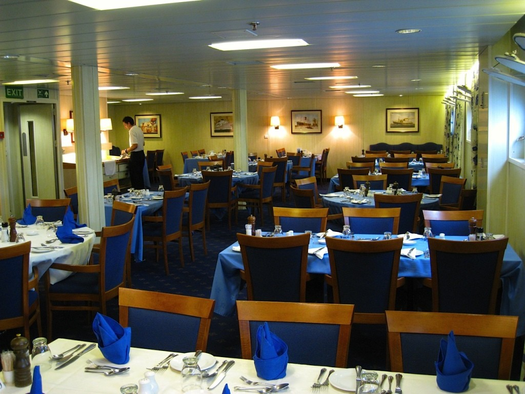 The dining room aboard the RMS St. Helena.* Photo: Bruce Heard