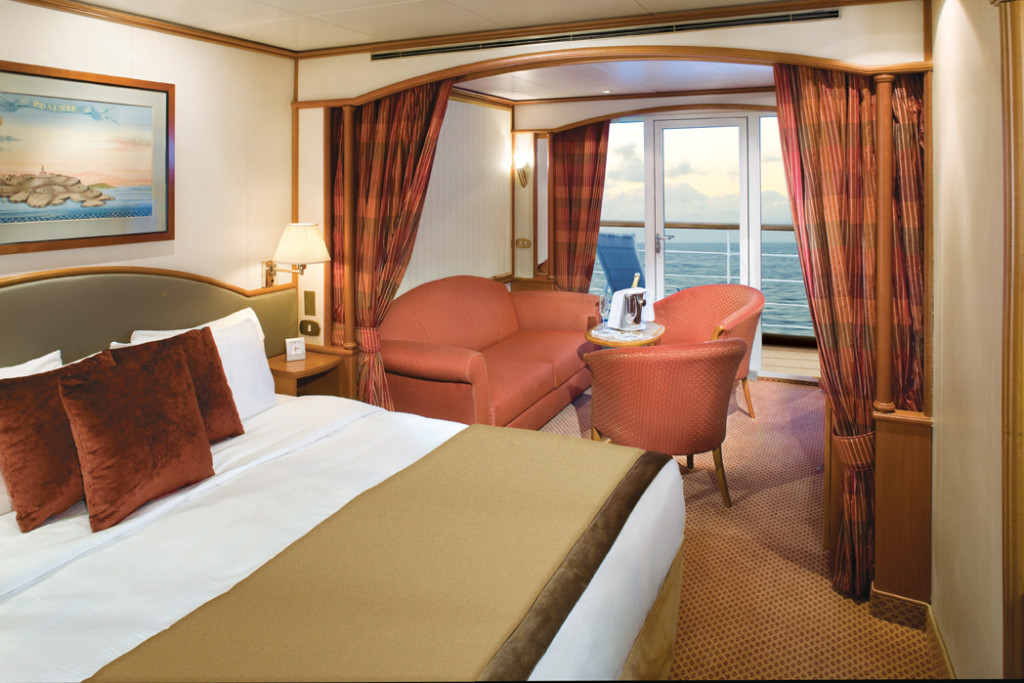The majority of accommodations are 240 square foot suites with balconies. * Photo: Silversea Cruises