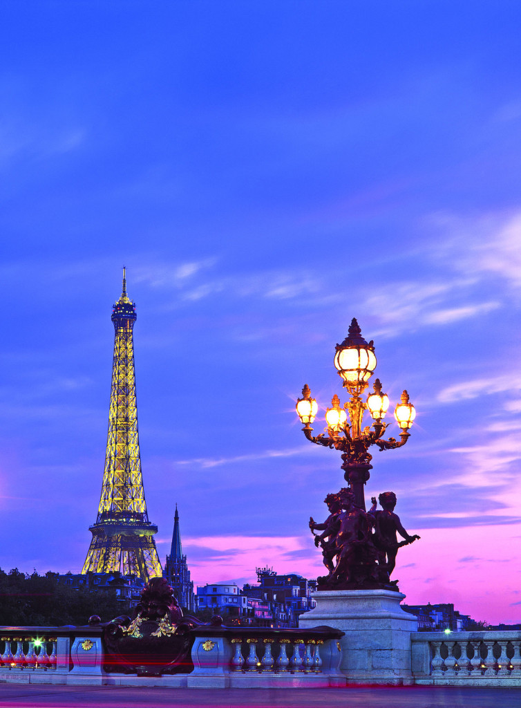 Eiffel Tower from Pont Alexandre III, Paris.* Photo: Gillies and Zaiser