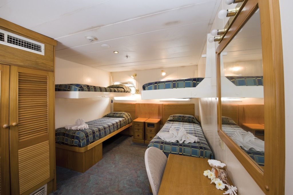 A quad cabin, ideal for family cruising. * Photo: Captain Cook Cruises