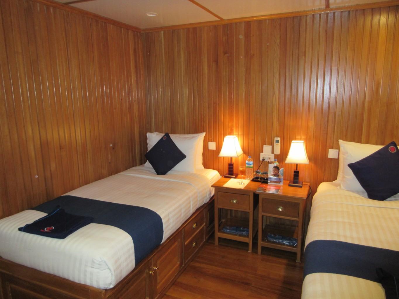 A comfortable Kalaw cabin, wood panelled and roomy. * Photo: Heidi Sarna