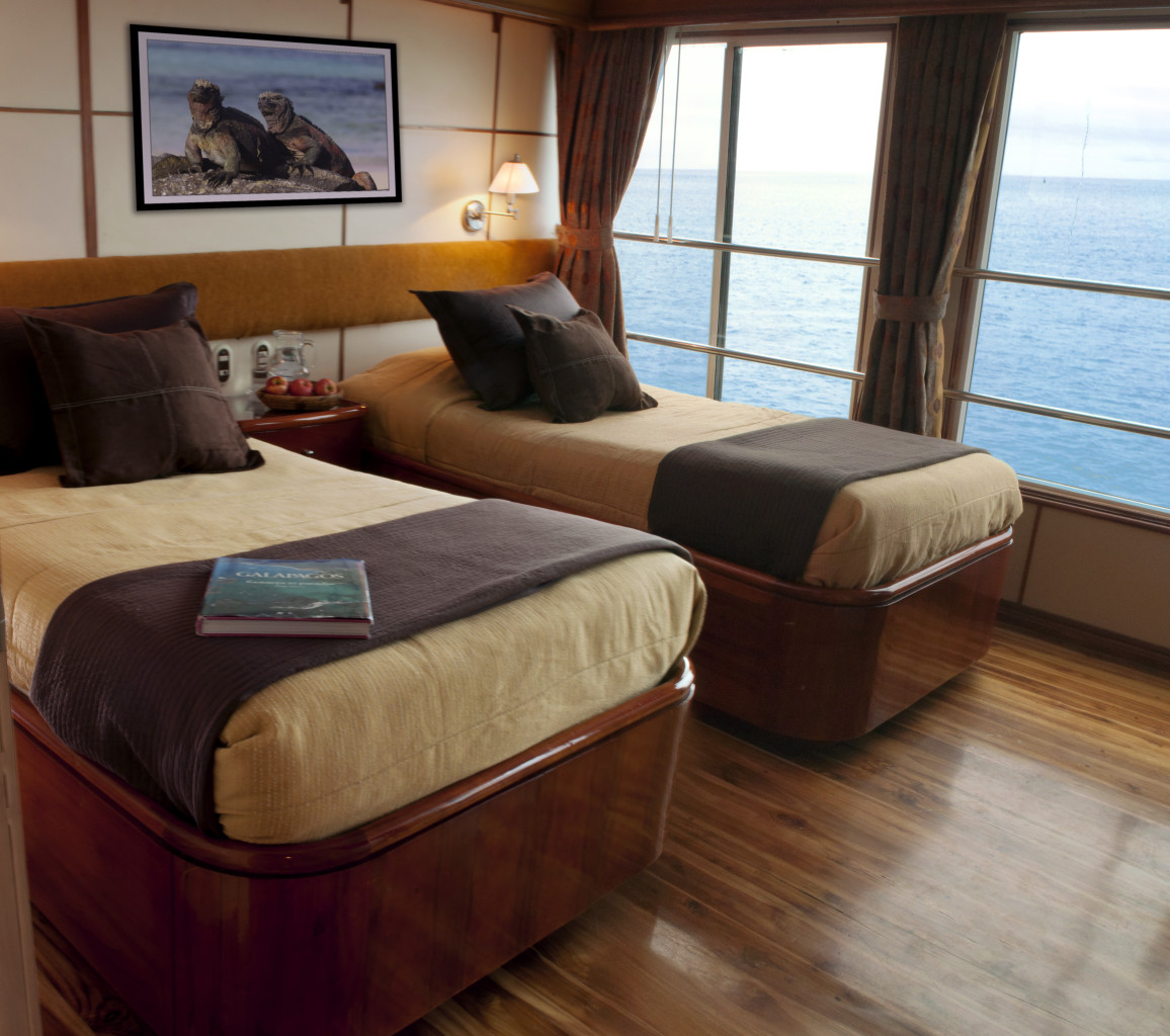 A light-filled twin cabin on the Galapagos Queen. * Photo: © G Adventures, Inc.