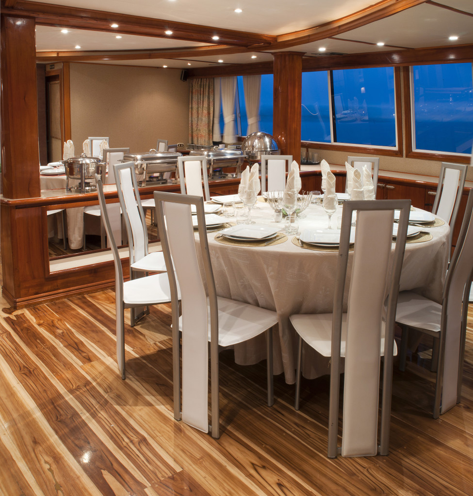 Dining room on Galapagos Queen. * Photo: © G Adventures, Inc.