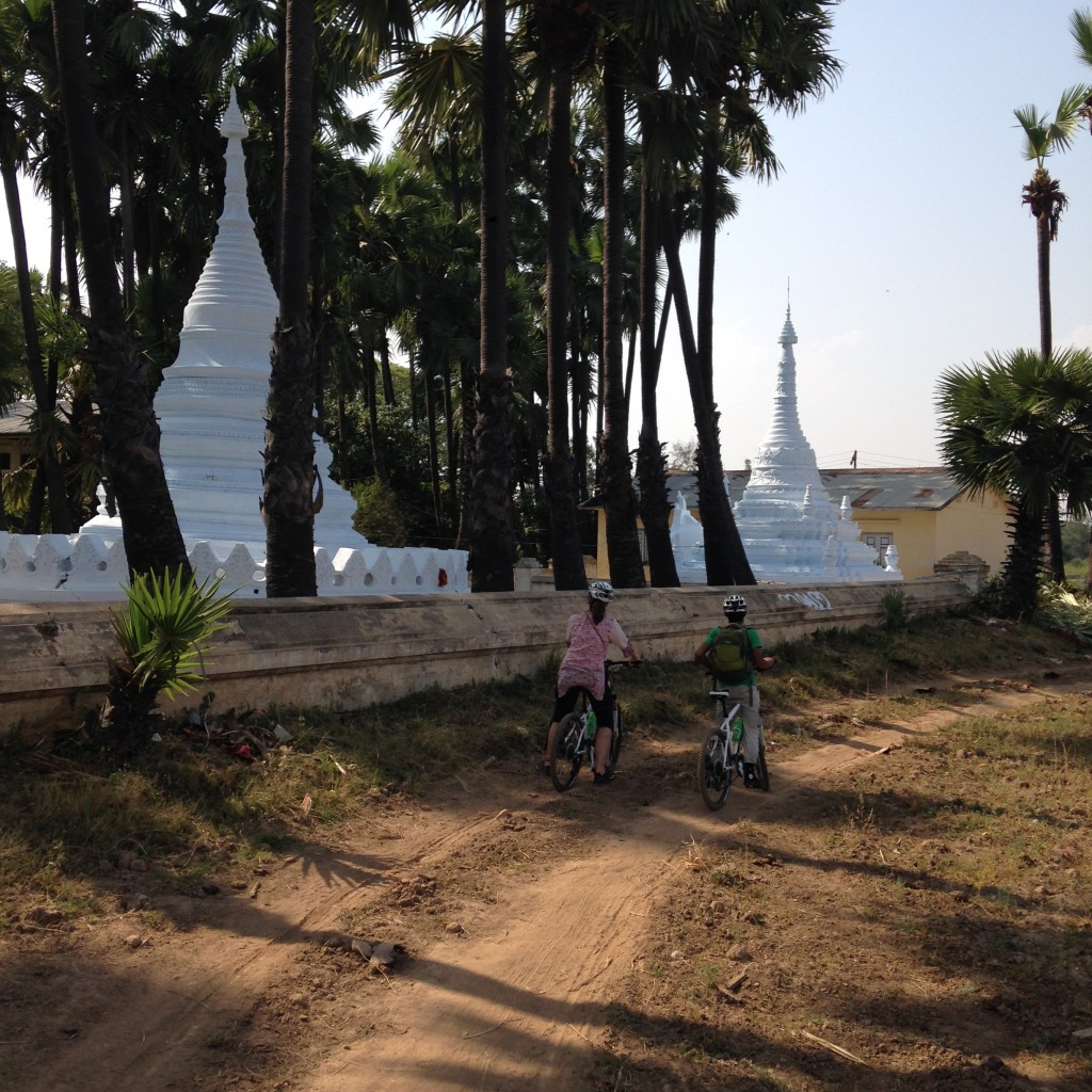 A guided bike ride on the outskirts of Mandalay with Grasshopper Adventures. * Photo: Heidi Sarna