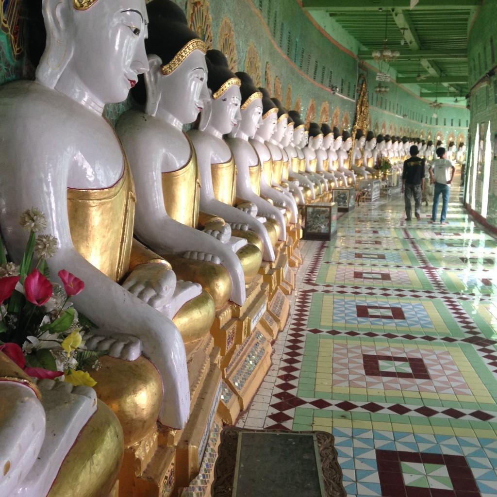 The stunning Temple of 45 Buddhas outside of Mandalay. * Photo: Heidi Sarna