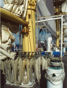 The trappings of a real tall ship. * Photo: Heidi Sarna