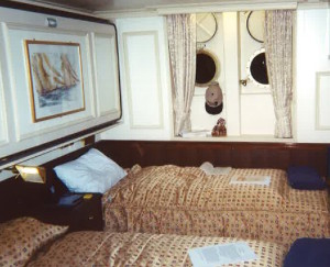 For a tall ship, the cabins are very comfortable! * Photo: Heidi Sarna