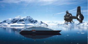The new SCENIC ECLIPSE will have two helicopters and a seven-seat submarine for underwater sightseeing * Photo: Scenic Cruises