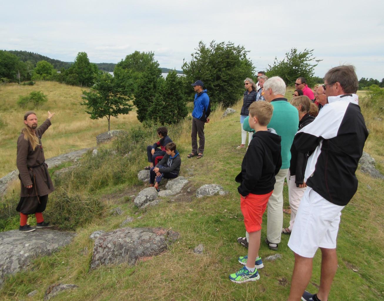 Walking tour around the ancient Viking burial mounds in Birka, Sweden. * Photo: Heidi Sarna