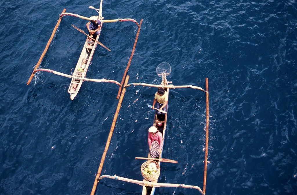 Outrigger canoes, Indonesia. * Photo: Ted Scull